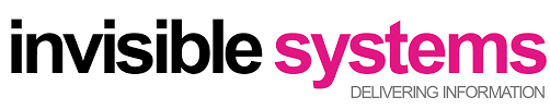 invisible systems delivering information logo